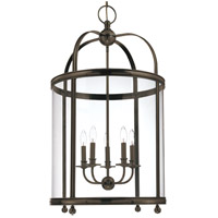 Larchmont 5 Light 21 inch Distressed Bronze Pendant Ceiling Light