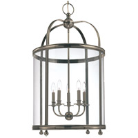 Hudson Valley 7820-HN Larchmont 5 Light 21 inch Historic Nickel Pendant Ceiling Light