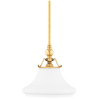 Hudson Valley 7821-AGB Orchard Park 1 Light 13 inch Aged Brass Pendant Ceiling Light