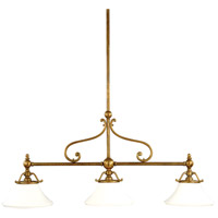Orchard Park 3 Light 50 inch Aged Brass Island Light Ceiling Light
