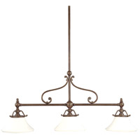 Orchard Park 3 Light 50 inch Historic Bronze Island Light Ceiling Light