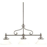 Orchard Park 3 Light 50 inch Historic Nickel Island Light Ceiling Light