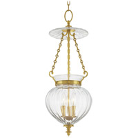 Hudson Valley Lighting Gardner 3 Light Pendant in Aged Brass 783-AGB