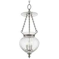Gardner 3 Light 11 inch Historic Nickel Pendant Ceiling Light