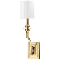Hudson Valley Lighting Mercer 1 Light Wall Sconce in Aged Brass 7901-AGB photo thumbnail
