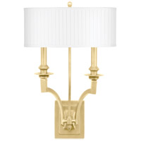 Mercer 2 Light 13 inch Aged Brass Wall Sconce Wall Light