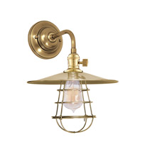 Hudson Valley Lighting Heirloom 1 Light Wall Sconce in Aged Brass 8000-AGB-MS1-WG