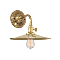 Hudson Valley Lighting Heirloom 1 Light Wall Sconce in Aged Brass 8000-AGB-MS1