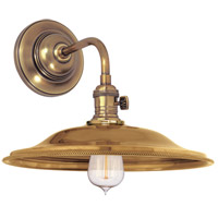 Heirloom 1 Light Aged Brass Wall Sconce Wall Light in MS2, No