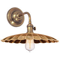 Hudson Valley 8000-AGB-MS3 Heirloom 1 Light Aged Brass Wall Sconce Wall Light in MS3 No