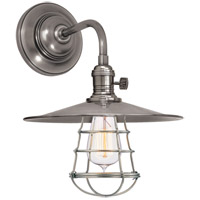 Hudson Valley 8000-HN-MS1-WG Heirloom 1 Light 10 inch Historic Nickel Wall Sconce Wall Light in MS1, Yes
