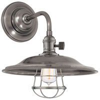 Hudson Valley Lighting Heirloom 1 Light Wall Sconce in Historic Nickel 8000-HN-MS2-WG
