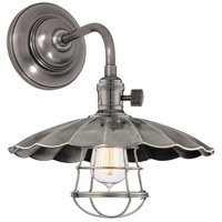 Hudson Valley Lighting Heirloom 1 Light Wall Sconce in Historic Nickel 8000-HN-MS3-WG