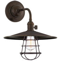 Hudson Valley Lighting Heirloom 1 Light Wall Sconce in Old Bronze with Wire Bulb Guard 8000-OB-MS1-WG
