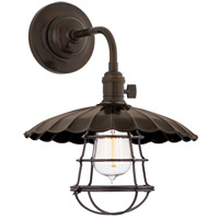 Hudson Valley 8000-OB-MS3-WG Heirloom 1 Light 10 inch Old Bronze Wall Sconce Wall Light in MS3, Yes