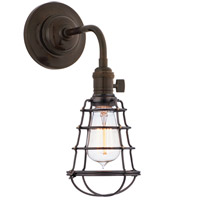 Hudson Valley 8000-OB-WG Heirloom 1 Light 6 inch Old Bronze Wall Sconce Wall Light in Yes