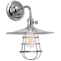 Hudson Valley 8000-PN-MS1-WG Heirloom 1 Light 10 inch Polished Nickel Wall Sconce Wall Light in MS1, Yes