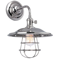 Hudson Valley 8000-PN-MS2-WG Heirloom 1 Light 10 inch Polished Nickel Wall Sconce Wall Light in MS2, Yes