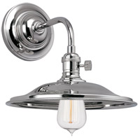 Heirloom 1 Light Polished Nickel Wall Sconce Wall Light in MS2, No