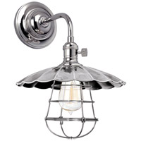 Hudson Valley Lighting Heirloom 1 Light Wall Sconce in Polished Nickel 8000-PN-MS3-WG