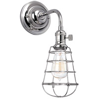 Hudson Valley 8000-PN-WG Heirloom 1 Light 6 inch Polished Nickel Wall Sconce Wall Light in Yes