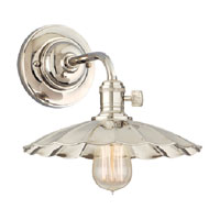 Hudson Valley Lighting Heirloom 1 Light Wall Sconce in Polished Nickel 8000-PN-MS3