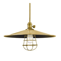 Hudson Valley Lighting Heirloom 1 Light Pendant in Aged Brass with Wire Bulb Guard 8001-AGB-ML1-WG