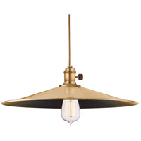 Heirloom 1 Light 17 inch Aged Brass Pendant Ceiling Light in ML1, No