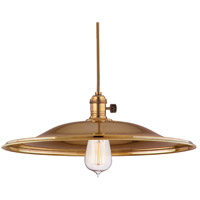 Heirloom 1 Light 17 inch Aged Brass Pendant Ceiling Light in ML2, No