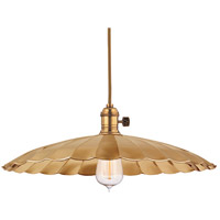 Hudson Valley 8001-AGB-ML3 Heirloom 1 Light 17 inch Aged Brass Pendant Ceiling Light in ML3, No