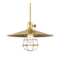 Hudson Valley Lighting Heirloom 1 Light Pendant in Aged Brass with Wire Bulb Guard 8001-AGB-MM1-WG