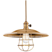 Hudson Valley Lighting Heirloom 1 Light Pendant in Aged Brass with Wire Bulb Guard 8001-AGB-MM2-WG