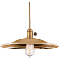 Heirloom 1 Light 14 inch Aged Brass Pendant Ceiling Light in MM2, No