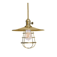 Hudson Valley Lighting Heirloom 1 Light Pendant in Aged Brass with Wire Bulb Guard 8001-AGB-MS1-WG