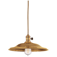 Heirloom 1 Light 10 inch Aged Brass Pendant Ceiling Light in MS2, No