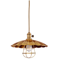 Hudson Valley Lighting Heirloom 1 Light Pendant in Aged Brass 8001-AGB-MS3-WG