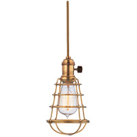 Hudson Valley Lighting Heirloom 1 Light Pendant in Aged Brass 8001-AGB-WG