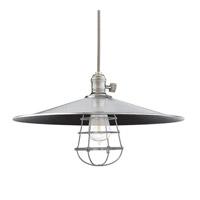 Hudson Valley 8001-HN-ML1-WG Heirloom 1 Light 17 inch Historic Nickel Pendant Ceiling Light in ML1 Yes