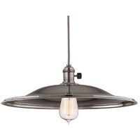 Hudson Valley 8001-HN-ML2 Heirloom 1 Light 17 inch Historic Nickel Pendant Ceiling Light in ML2, No