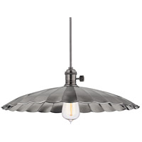 Heirloom 1 Light 17 inch Historic Nickel Pendant Ceiling Light in ML3, No