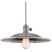 Hudson Valley 8001-HN-MM2 Heirloom 1 Light 14 inch Historic Nickel Pendant Ceiling Light in MM2, No