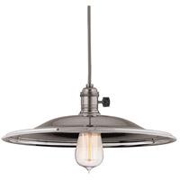 Hudson Valley 8001-HN-MM2 Heirloom 1 Light 14 inch Historic Nickel Pendant Ceiling Light in MM2 No