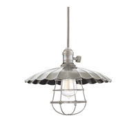 Heirloom 1 Light 14 inch Historic Nickel Pendant Ceiling Light in MM3, Yes