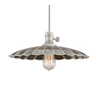 Hudson Valley 8001-HN-MM3 Heirloom 1 Light 14 inch Historic Nickel Pendant Ceiling Light in MM3, No