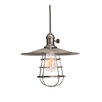 Heirloom 1 Light 10 inch Historic Nickel Pendant Ceiling Light in MS1, Yes