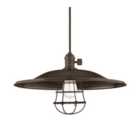 Hudson Valley Lighting Heirloom 1 Light Pendant in Old Bronze with Wire Bulb Guard 8001-OB-ML2-WG