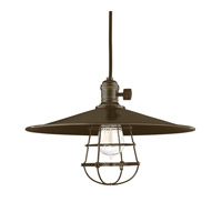 Hudson Valley Lighting Heirloom 1 Light Pendant in Old Bronze with Wire Bulb Guard 8001-OB-MM1-WG