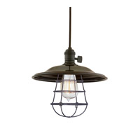 Hudson Valley 8001-OB-MS2-WG Heirloom 1 Light 10 inch Old Bronze Pendant Ceiling Light in MS2, Yes photo thumbnail