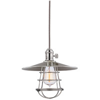 Hudson Valley Lighting Heirloom 1 Light Pendant in Polished Nickel 8001-PN-MS1-WG