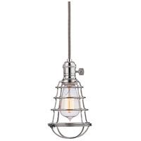 Hudson Valley 8001-PN-WG Heirloom 1 Light 2 inch Polished Nickel Pendant Ceiling Light in Yes